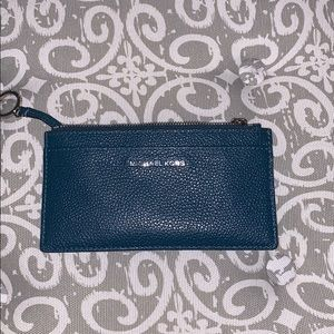Michael Kors Large Leather Card Case Teal